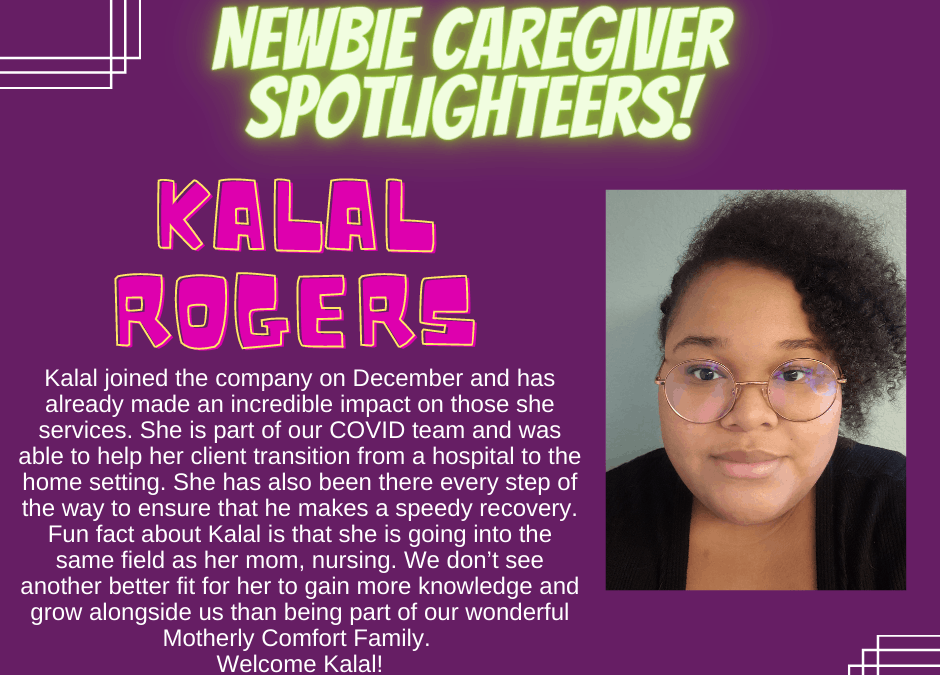 Be Extraordinary Newbie Caregiver Spotlight